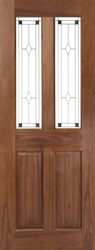 Seadec Waterford Walnut 2 Panel with Glass type