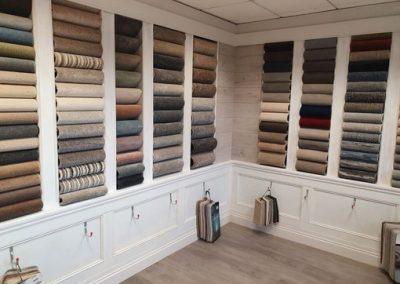 carpets in showroom