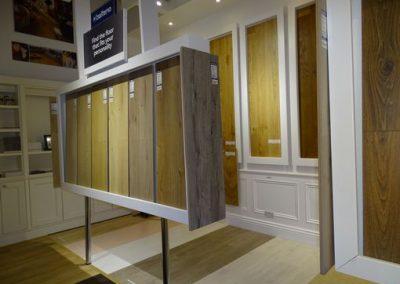 wood flooring in showroom