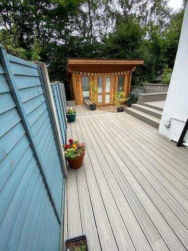 garden new wood deck
