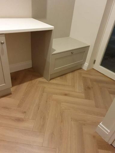 heringbone wood floor
